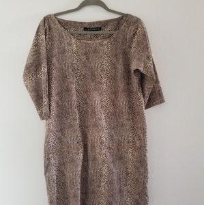 Zara snake design boxy knee length dress size S